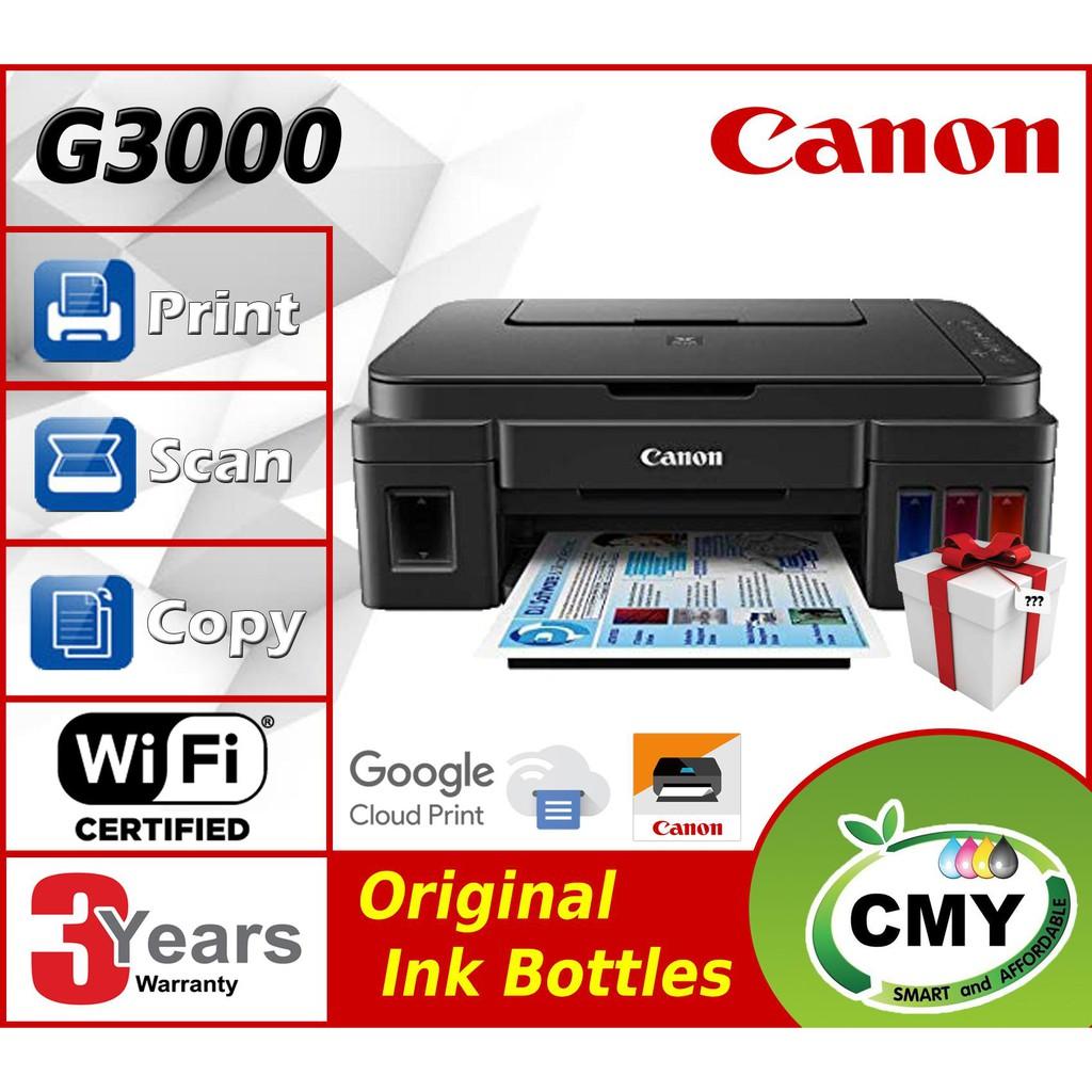 Canon Pixma G3000 3000 AIO Wifi Printer