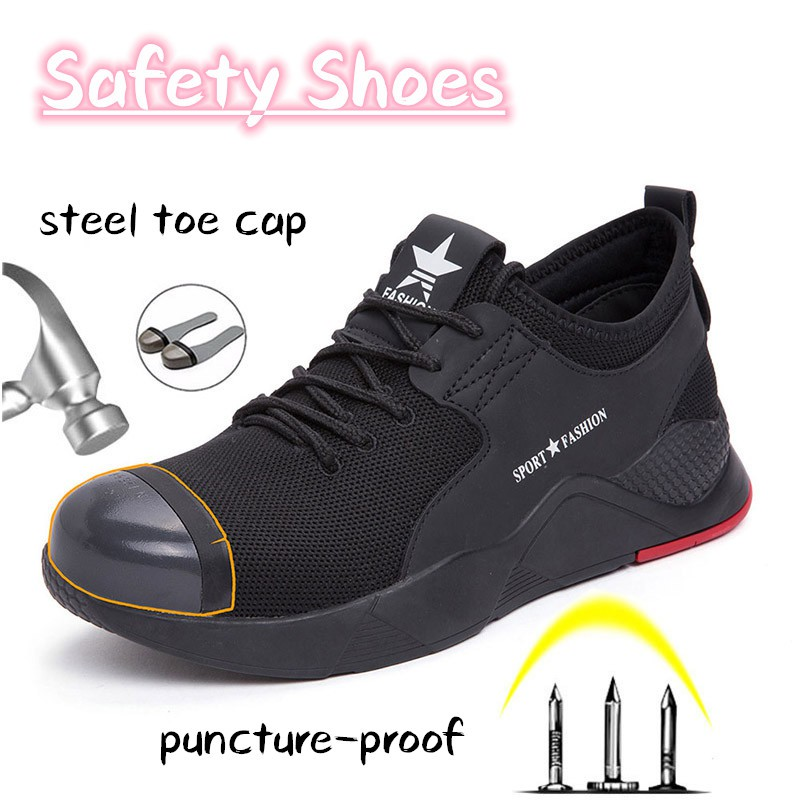 31810a5c8c8 Fashion Safety Shoes Unisex Work Shoe Breathable Sports Shoes 36-46