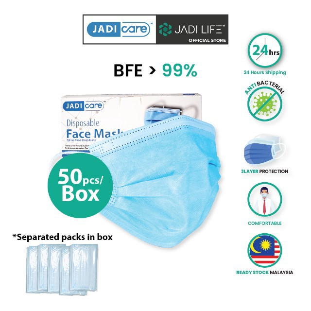 JADI CARE Disposal Adult Face Masks 3-ply