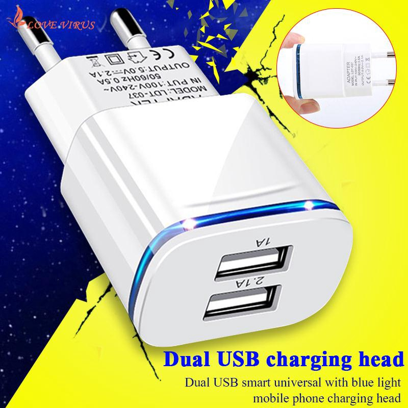 Power Adapter Charger Universal LED Lighting Double USB Notebook