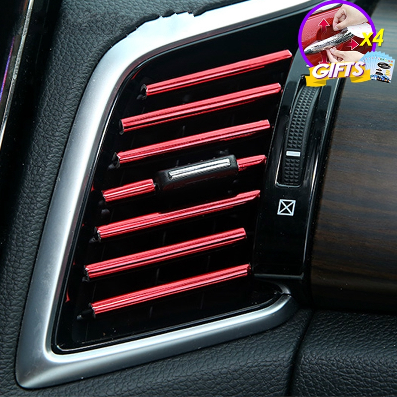 Red Niceautoitem 2pcs//Set ABS Car Engine Hood Air Outlet Vent Decoration Trim Cover for Jeep Wrangler JL 2018+