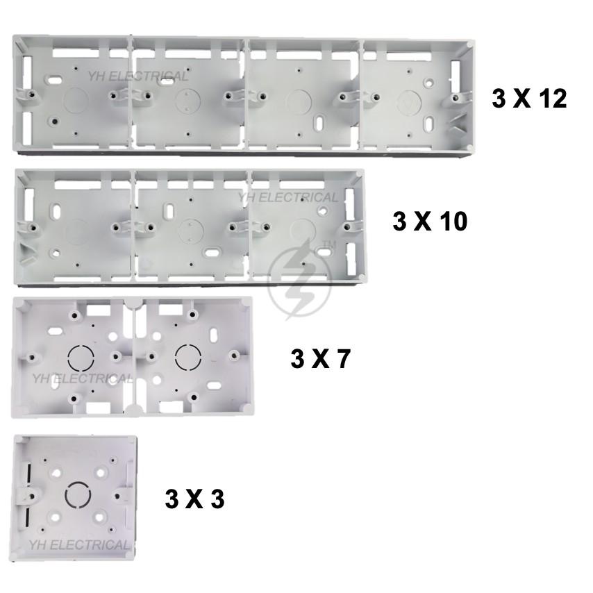 PVC Box Surface Type Nut Box/ Electrical Box/ Base 3x3 / 3x7 / 3x10 / 3x12