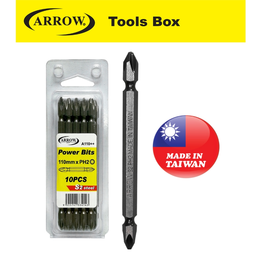 ARROW A65++  A110++  A150++  SCREWDRIVER BITS  EASY USE SAFETY GOOD QUALITY