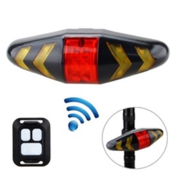 USB Bicycle Blinker Lamp LED Bike Tail Light Laser Turn Signal /& Remote Control
