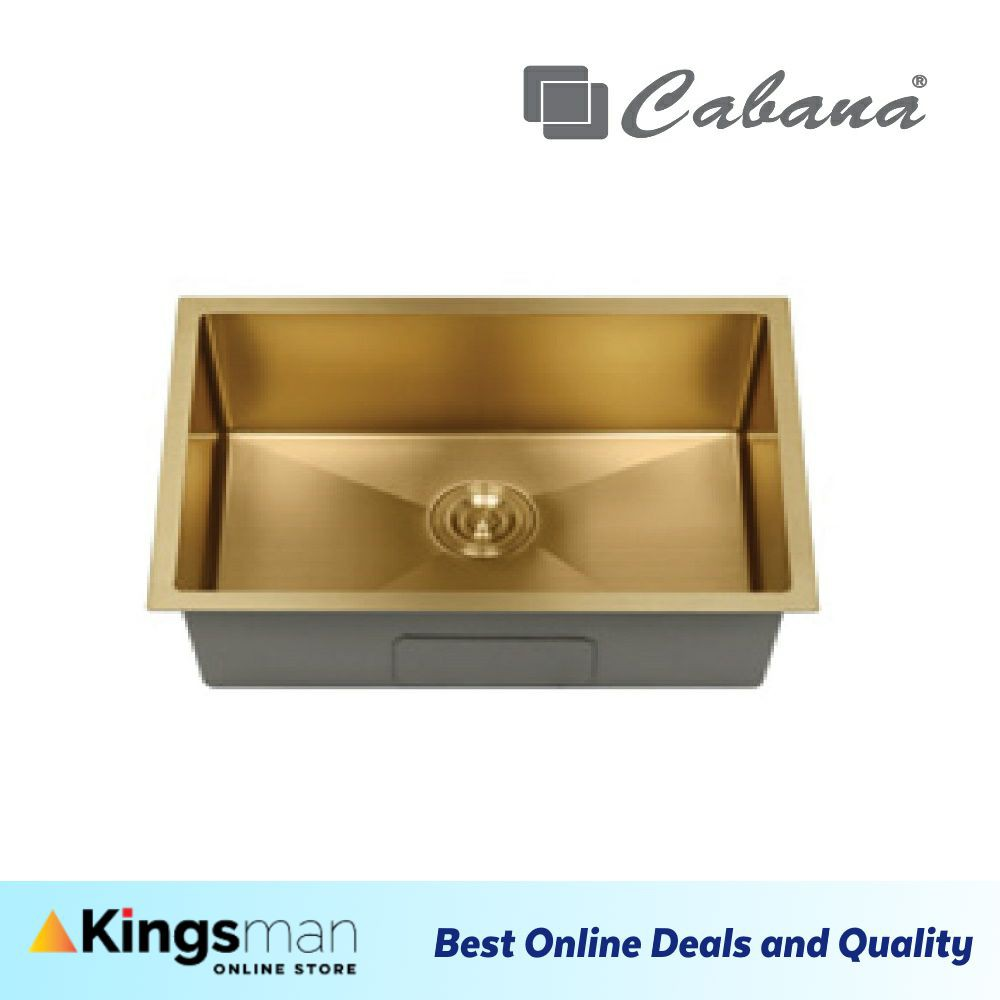 [Kingsman] Undermount Stainless Steel Cabana Home Living Kitchen Sink Single Bowl Pull Out Drainer Ready Stock- CKS7606