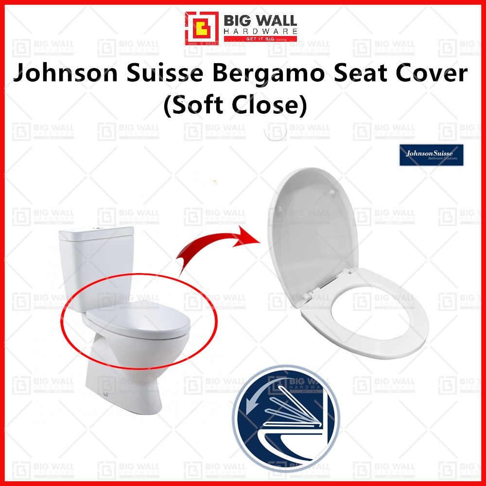 Johnson Suisse Replacement Bergamo Seat & Cover WBTS800141ww -3 (Soft Close) Big Wall Hardware