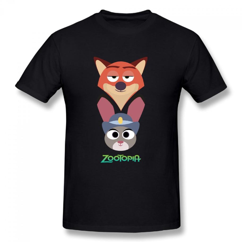 4b88ef458 Zootopia Cartoon Men's Round Neck T-shirts | Shopee Malaysia