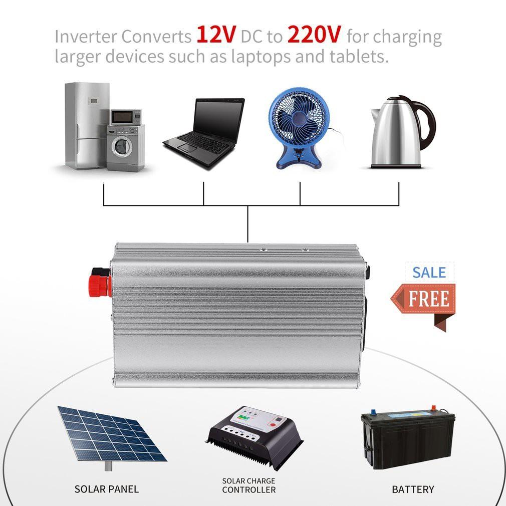 200w Usb Car Auto Power Inverter Converter Adapter Adaptor 12v Dc To 5vdc Single Polarity 12vdc Dual Ac 220v Shopee Malaysia