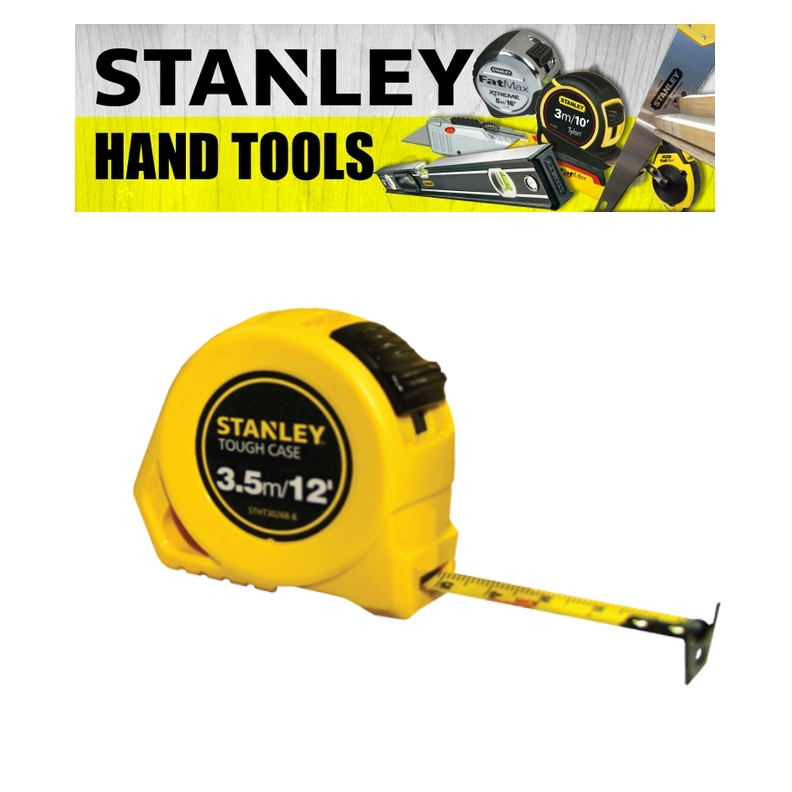 STANLEY HAND POWER TOOLS TOUGH CASE MEASURING TAPE 3.5M/5M/8M  ( 3 MONTH WARRANTY)