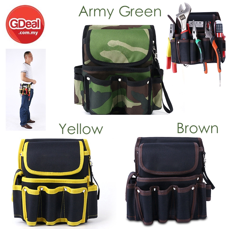 GDeal Tool Kit Hardware Repair Bag Electrician Work MultiFunction High Strength Wear-Resistant Oxford Canvas Hardware