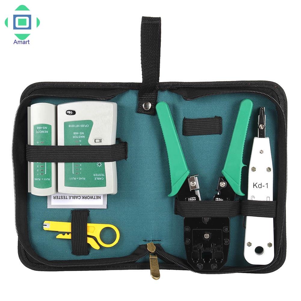 ♡amart♡5pcs/Set Network Ethernet Cable Tester RJ45 Kit Crimper Crimping  Tools n