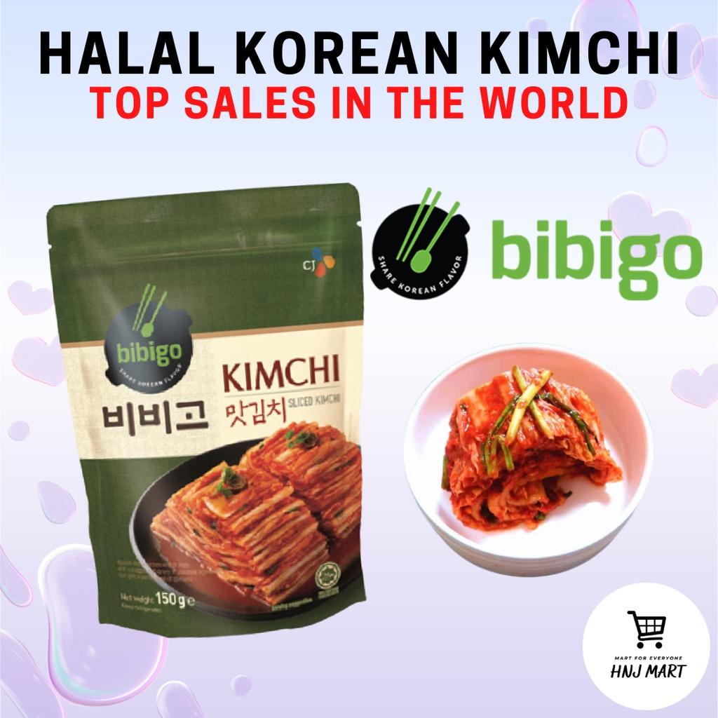 Halal Korea Kimchi [CJ Bibigo Kimchi] 150g / 500g Cut Cabbage Kimchi / Sliced Kimchi / Mat Kimchi