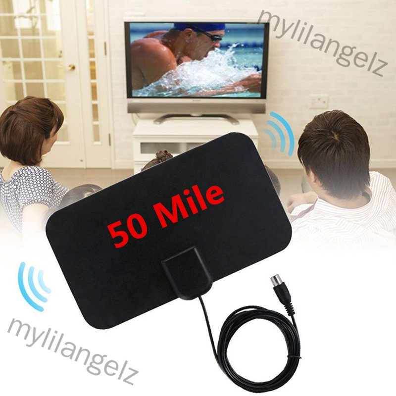 Mylilangelz 1080P HDTV Antenna with 13ft Long Cable Indoor Amplified 50-Mile Range HD Digital TV Antenna