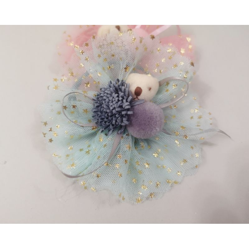 Handmade lovely bear pompom hairband