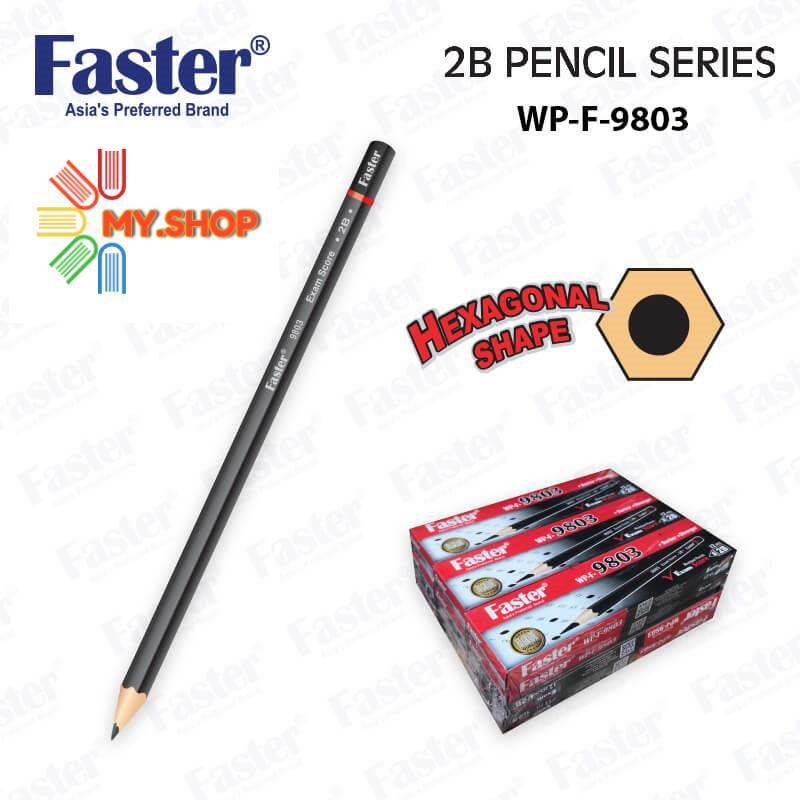 Faster WP-F-9803 & 9600 2B Pencil (12 pcs/box)