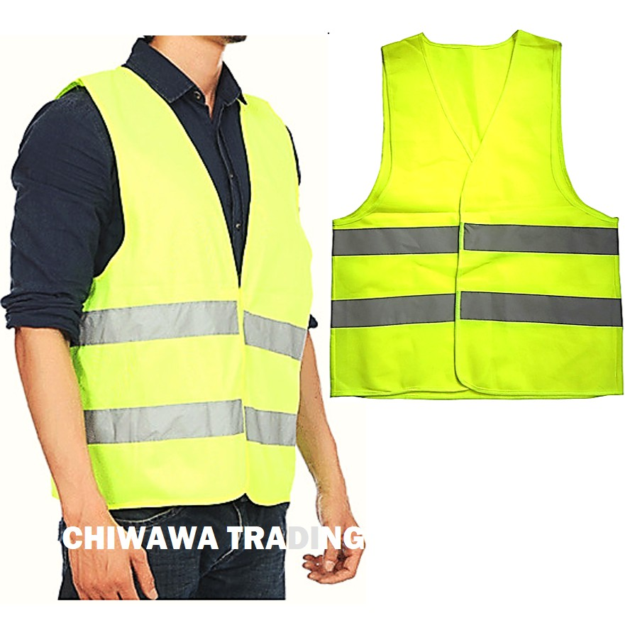 Reflective Safety Vest Visibility Traffic Enclosure with Velcro Stick-On Pad