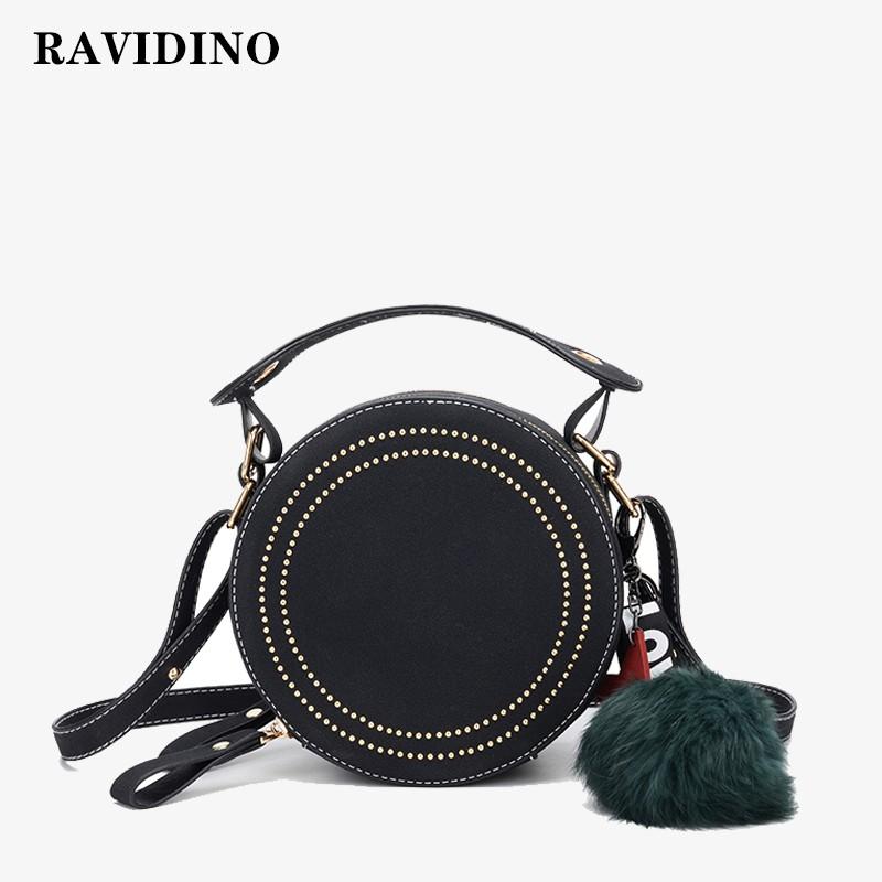 Leather Black Deer Star Rivet Handbags Tote Bag Shoulder Satchel for Women Girls