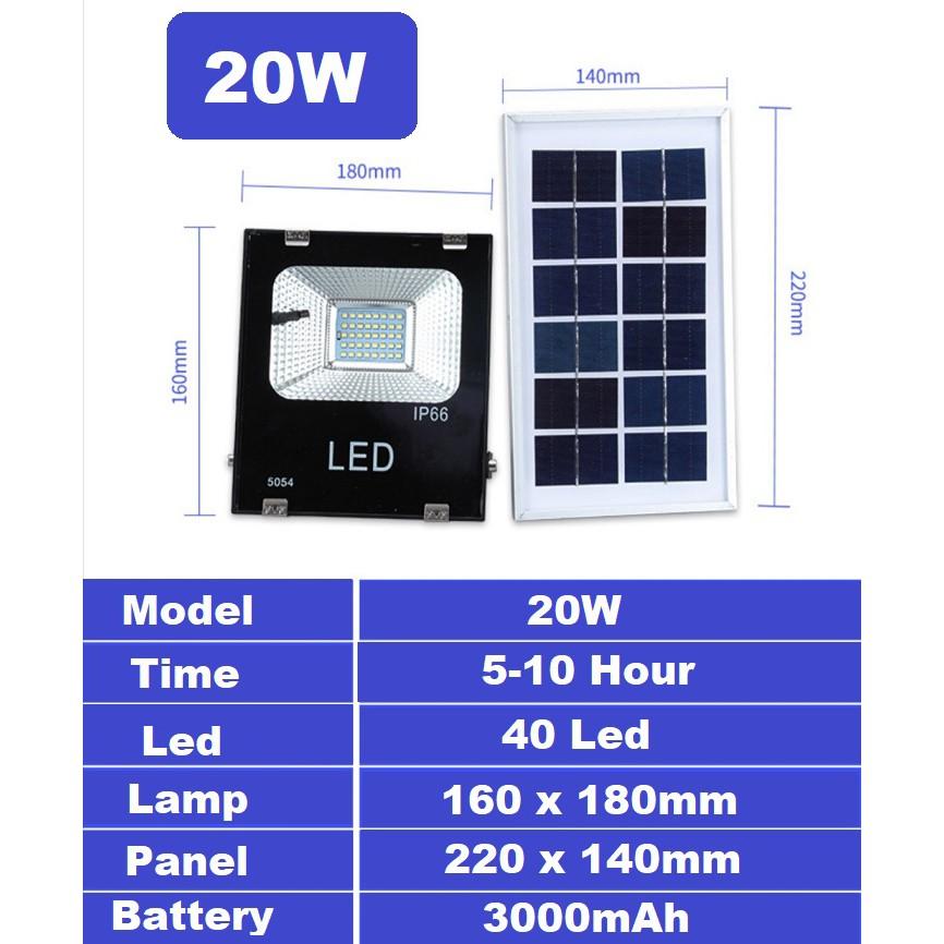 [ READY STOCK ]  Solar Powered Sensor LED Flood Light 20W/30W/50W/100W Security Spotlight Pelita Lampu Raya Jualan Murah