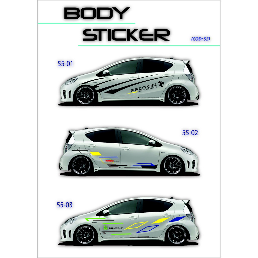 10pcs lot one piece car body car sticker decals auto stickers car decor shopee malaysia