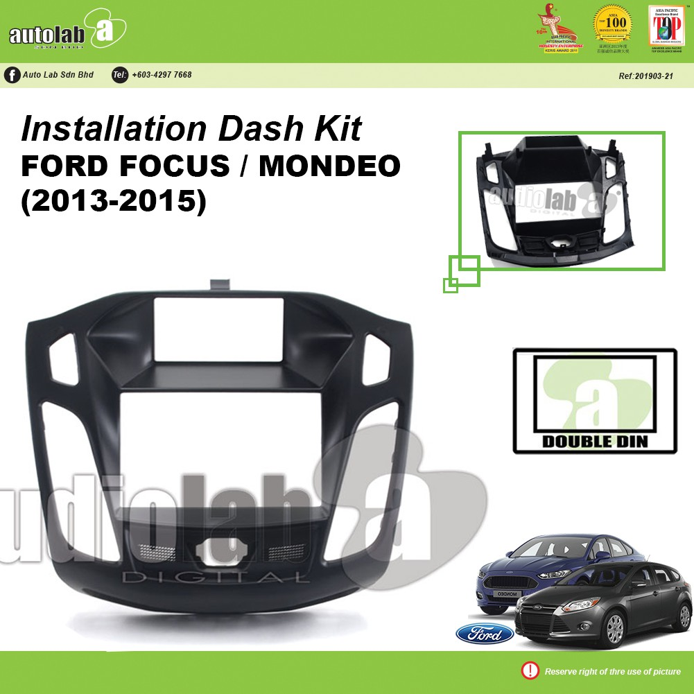Player Casing Double Din Ford Focus / Mondeo (2013-2015)