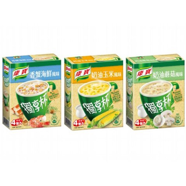 Knorr Instant Soup 康宝 独享杯 即食浓汤 奶油玉米风味/奶油蘑菇风味/香蟹海鲜风味