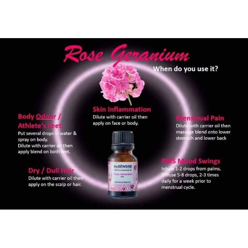 Trusensse 100% Pure Essential Oil - Rose Geranium 15ml (1 pc)