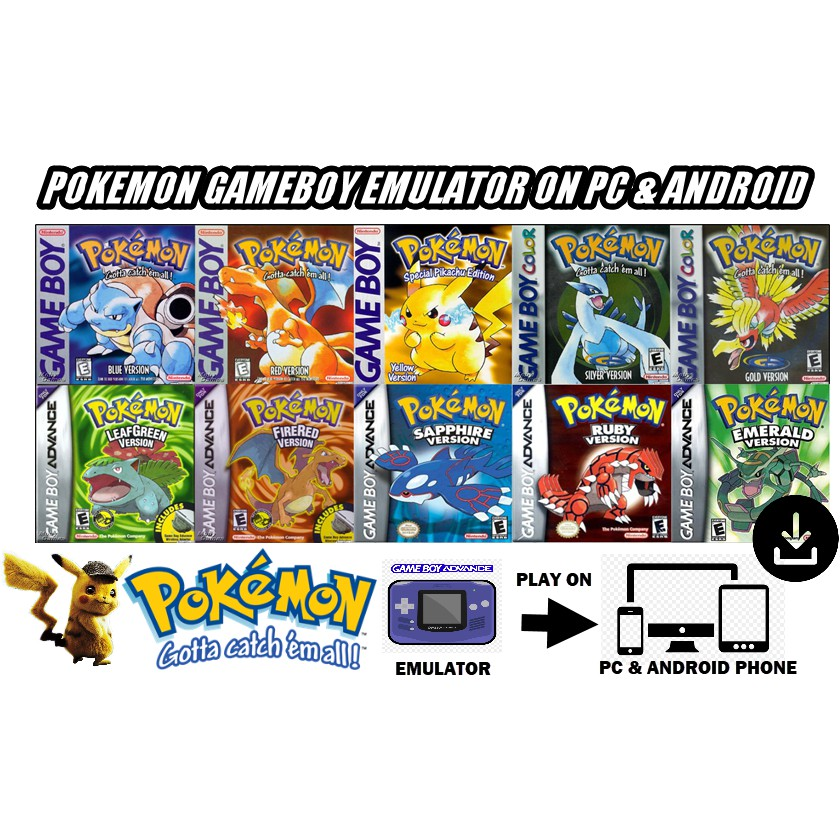 [All in One] Pokemon GameBoy Emulator PC & Android Phone