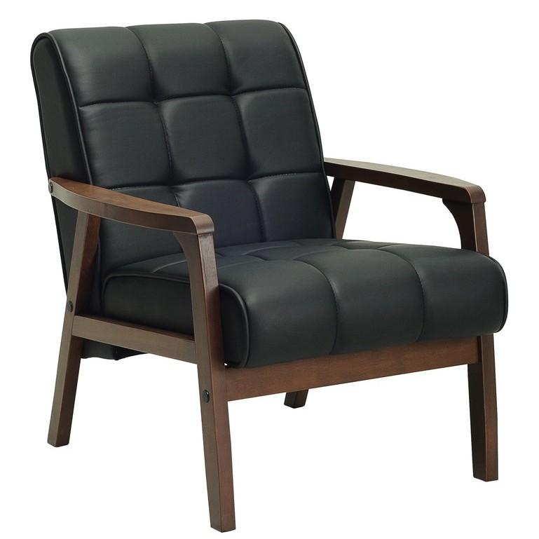 TASCO 1 seater solid wooden frame sofa/ sofa