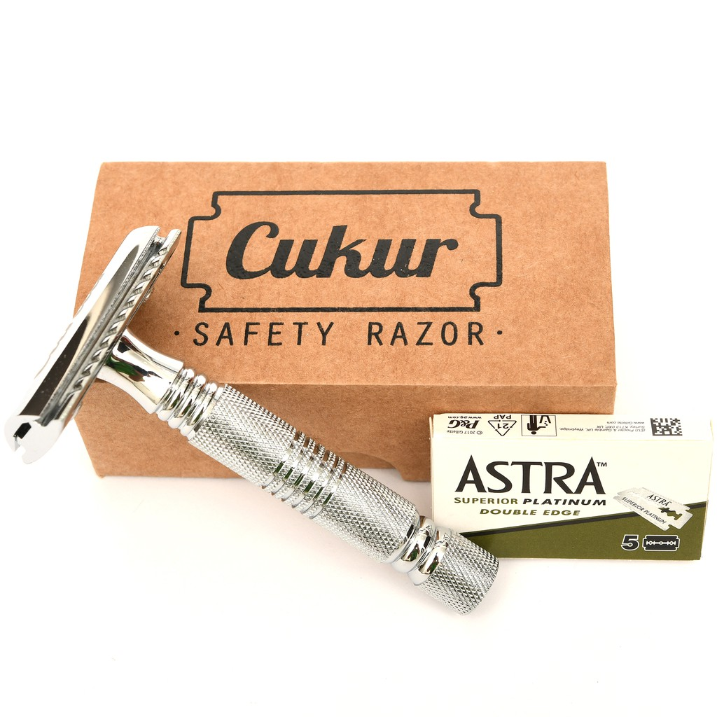 Cukur Double Edge Safety Razor - Short Handle + 5 Blades