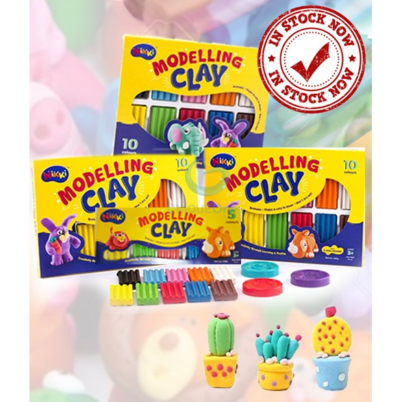 Nikki Fun Clay Modelling Clay (MD100-M,MD100,MD50)enhance your kid's knowledge
