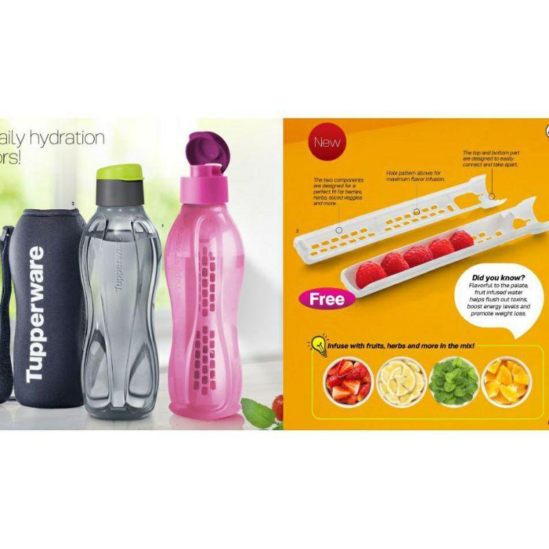 (READY STOCK)Tupperware Eco Bottle 750ml / Fruit Infuser / Pouch