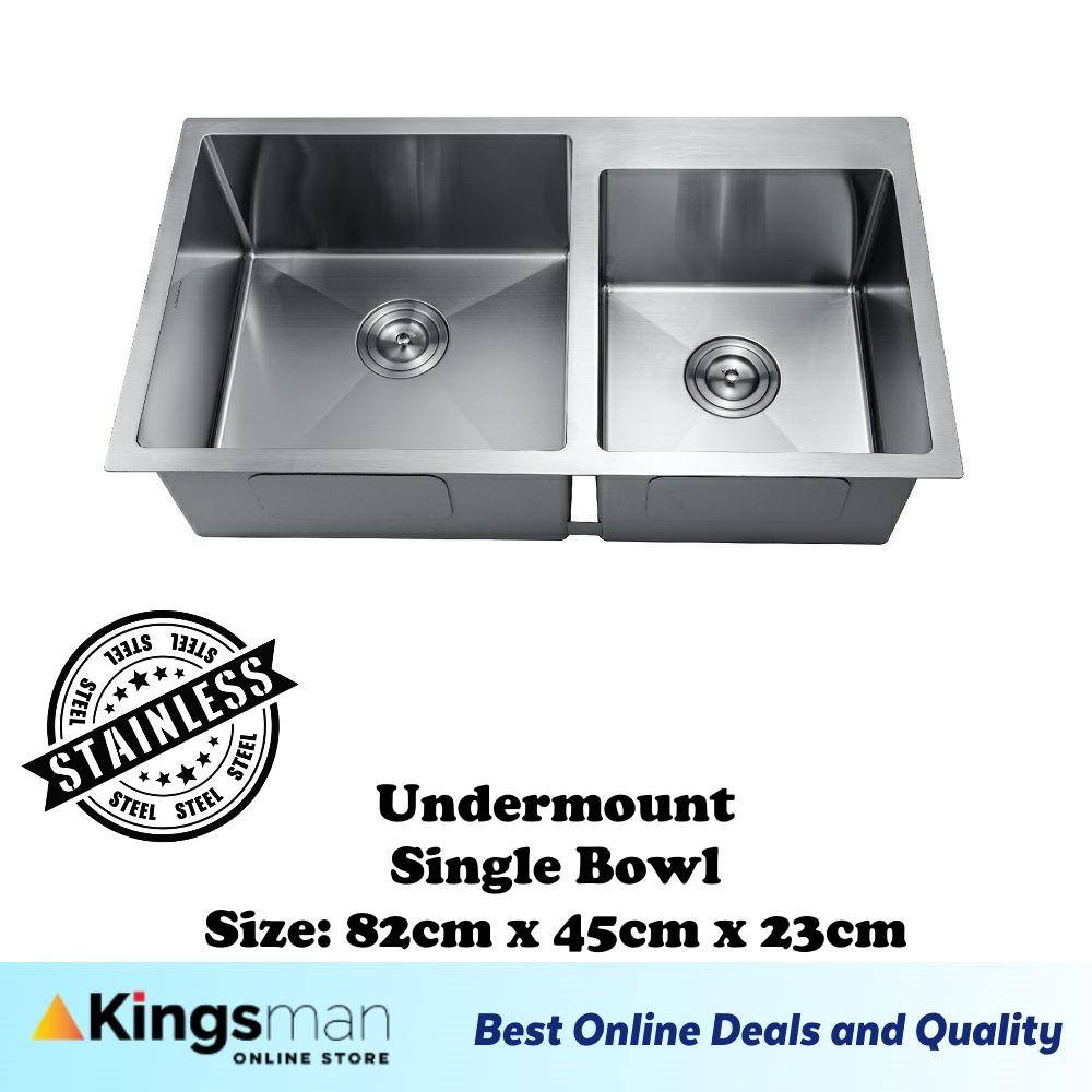 [Kingsman] Modern Classic Undermount 304 Stainless Steel Double Bowl Kitchen Sink