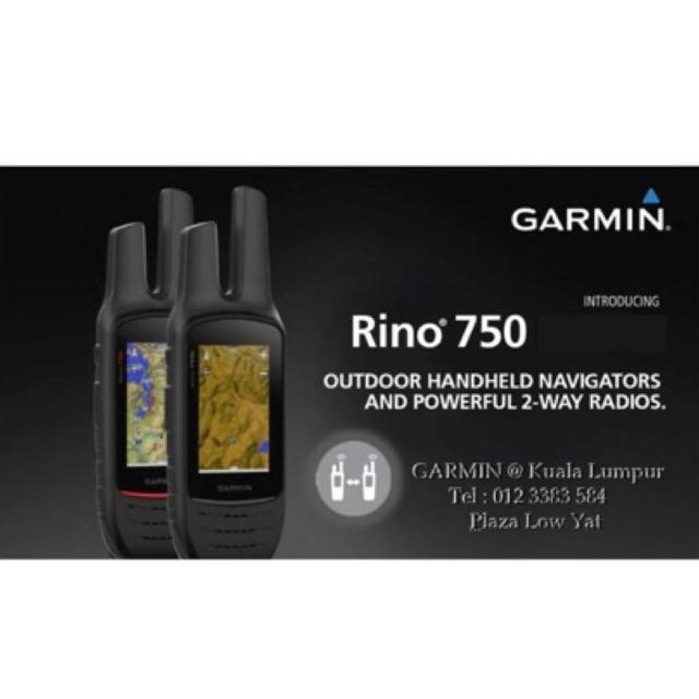 Garmin Rino 750 - Rugged 2 way Radio/GPS Navigator with Sensors