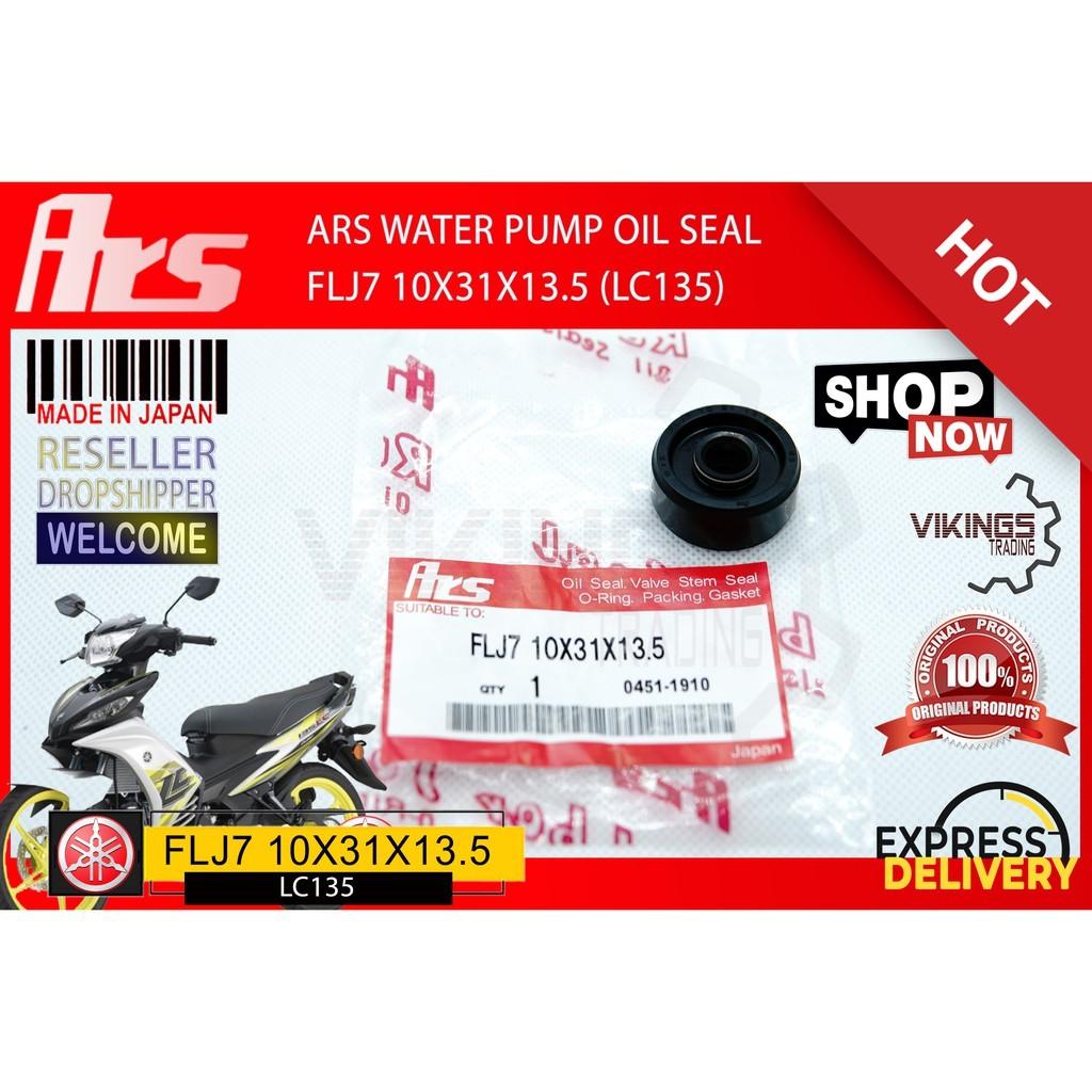 LC135 Y15ZR R25 TZM 100% Original authentic JAPAN ARS water pump oil seal LC135 Y15ZR R25 TZM 10X31X13.5