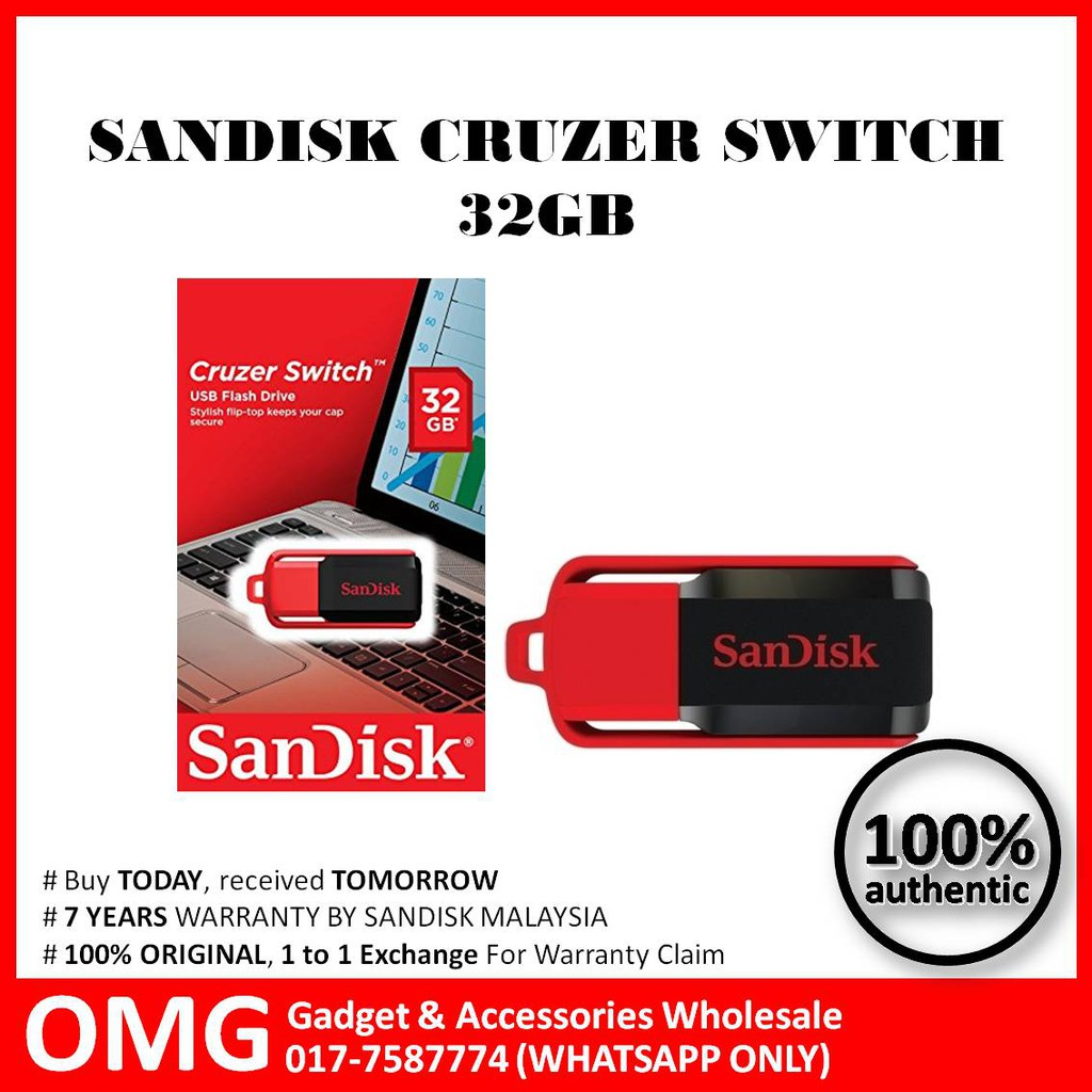 Original Sandisk 32gb Cruzer Switch Usb Pendrive Shopee Malaysia 64gb