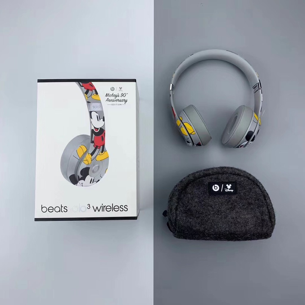 Beats Solo3 Wireless Bluetooth Headphones Mickey S 90th Anniversary Edition Shopee Malaysia