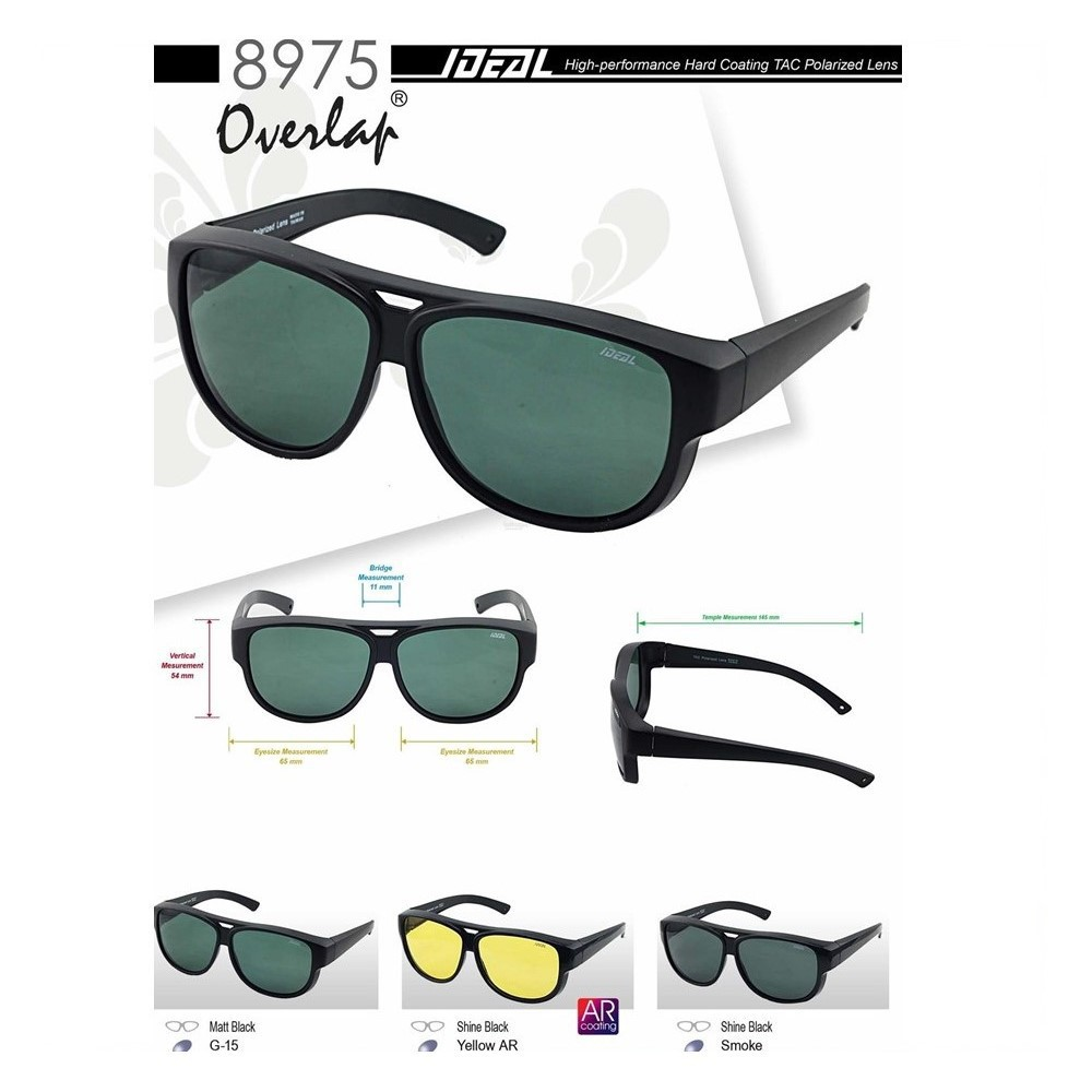 4d85401e2d 4GL Ideal 8834 Holbrook Polarized Sunglasses (Frame Matte Black) Cermin  Mata