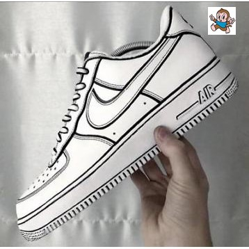 cartoon air force ones shoes