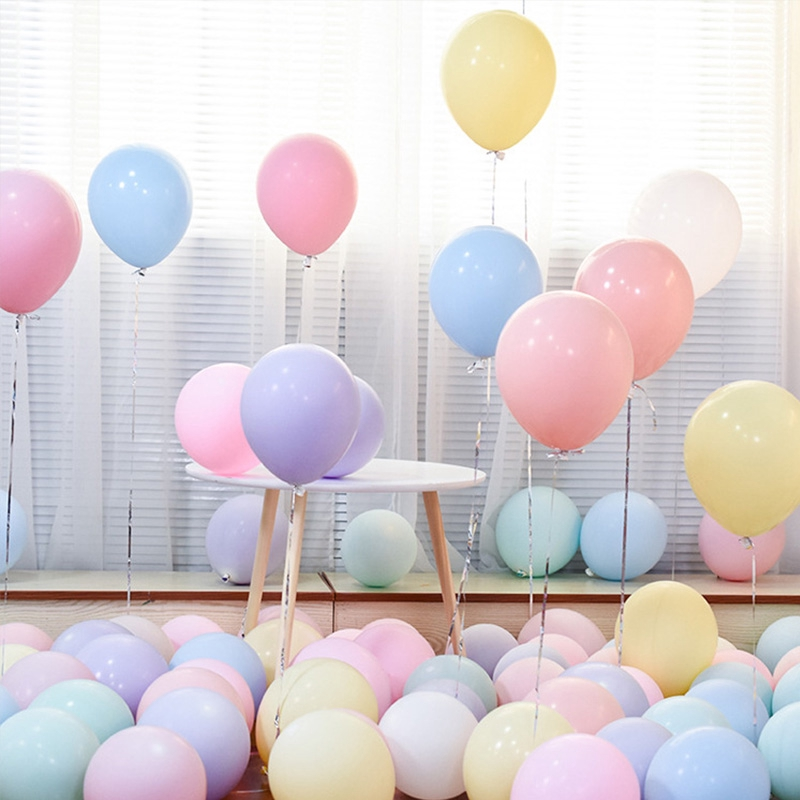 10PCS MACARON PASTEL CANDY BALLOONS 5INCH 10INCH BIRTHDAY PARTY WEDDING DECOR 6
