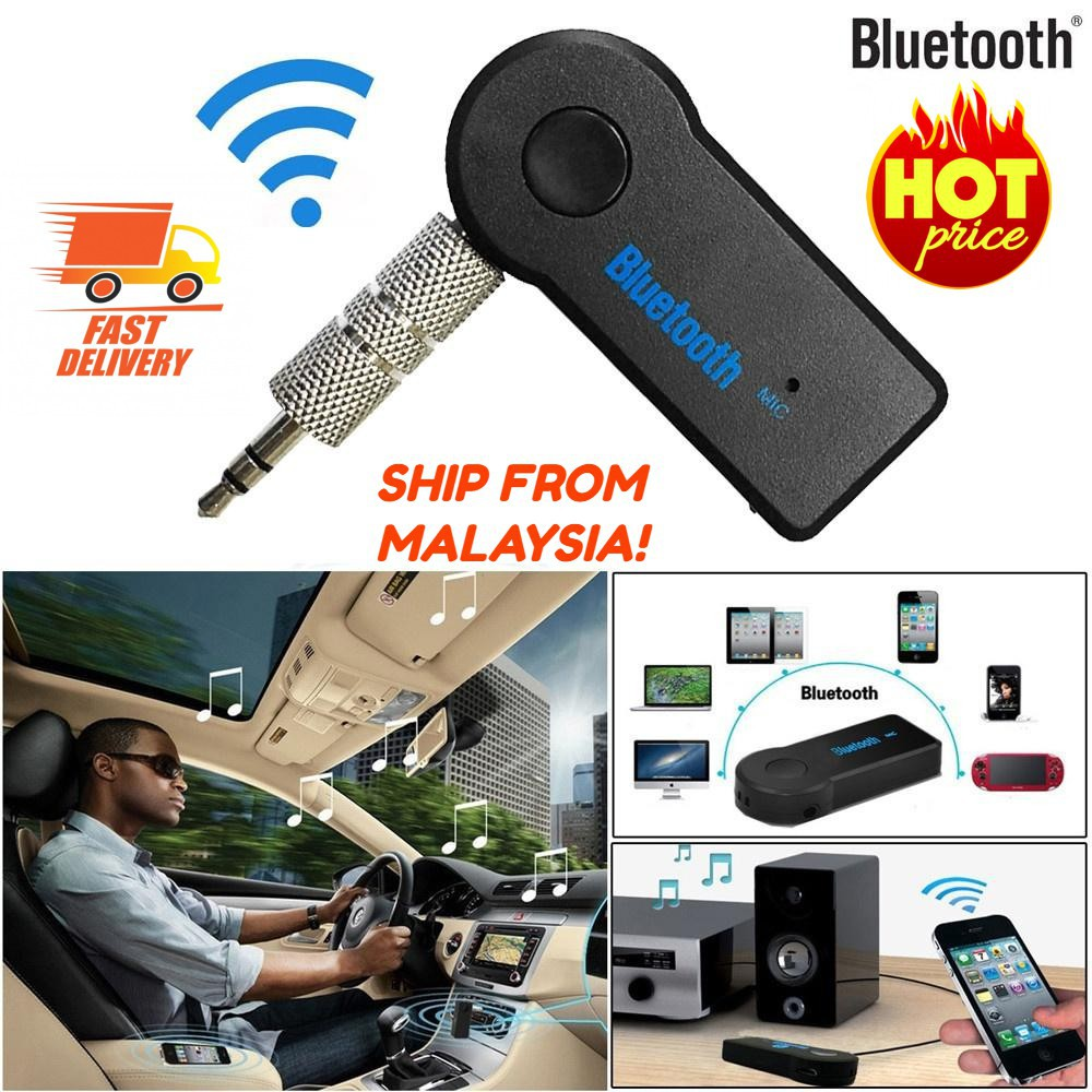 🔥 BLUETOOTH CAR AUX Wireless Receiver Adapter USB Mini Stereo Audio Music
