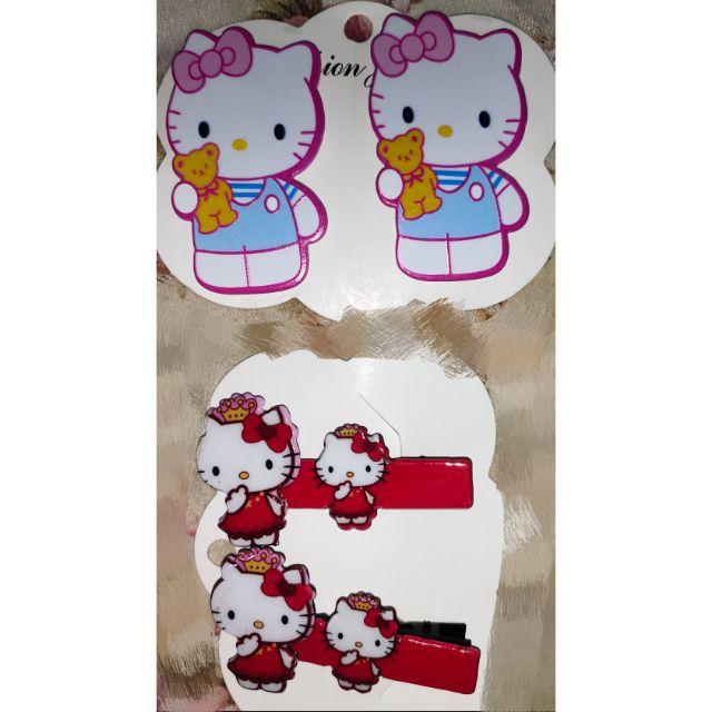 🆕💯✅🥇hello kitty ~jaw hair clip (pair)/tictac kitty melody hair clip 2s