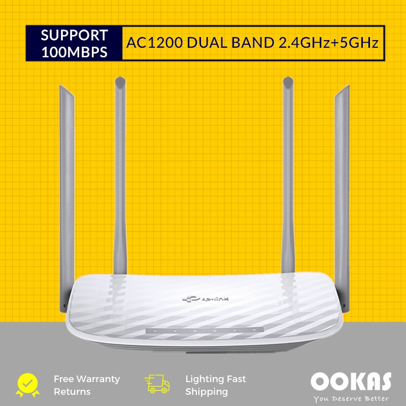 TP-LINK ARCHER C50 AC1200 2 4+5Ghz Dual Band Wireless WiFi Router Unifi  HyppTV