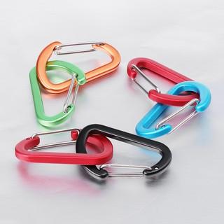Bst 2pcs D Shape Fast Hang Mini Buckle Hook Clip Camping