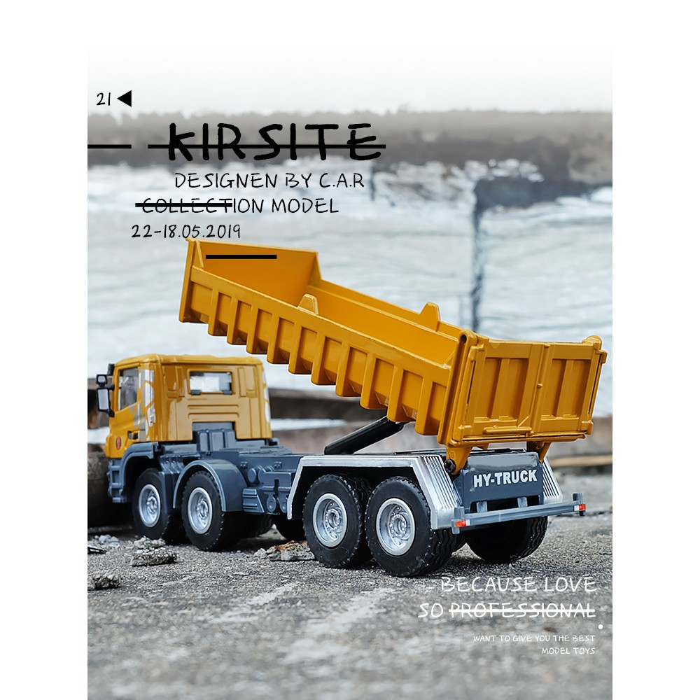 Kawei 1:50 construction site dump truck toy engineering vehicle model dump  truck