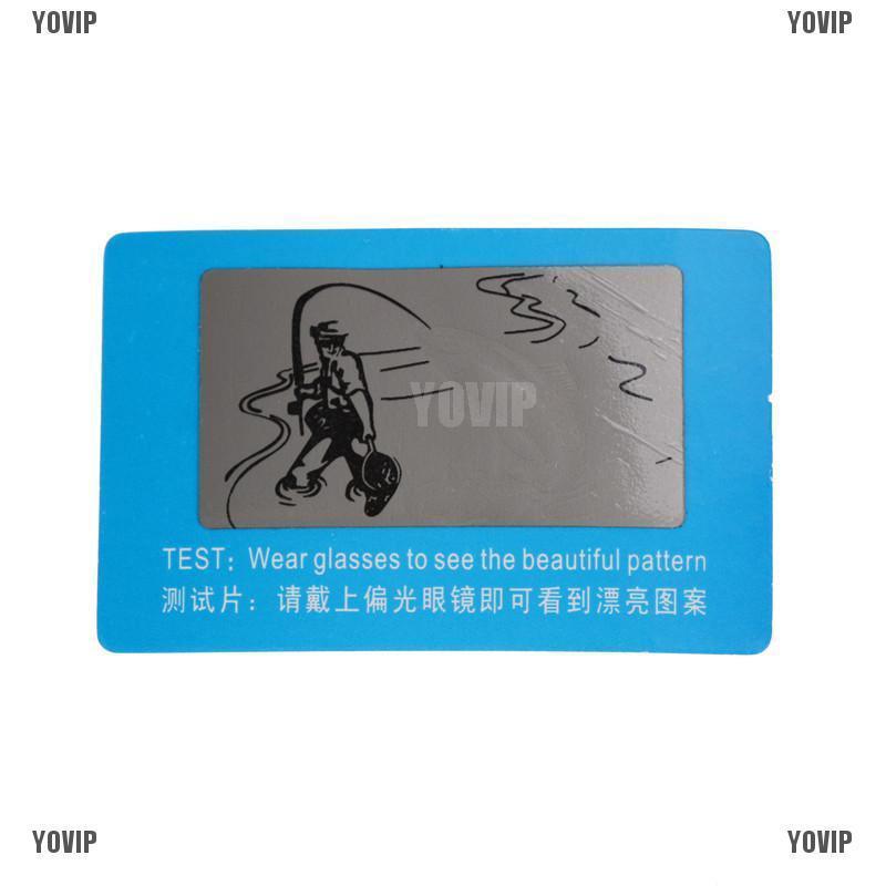 10pcs//set Polarized Sunglasses Shades Test Cards For Check Sunglasses PolarizeTB