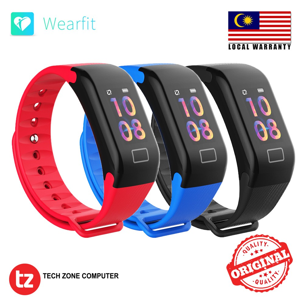 Color Screen Waterproof F1 Plus Smart Wristband Watch Fitness Original Bracelet Tracker Shopee Malaysia