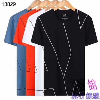 top design grande variété de modèles large choix de couleurs AJ74 Simple Men Armani Armani Pull Cotton Short Sleeve T-Shirt M-3XL