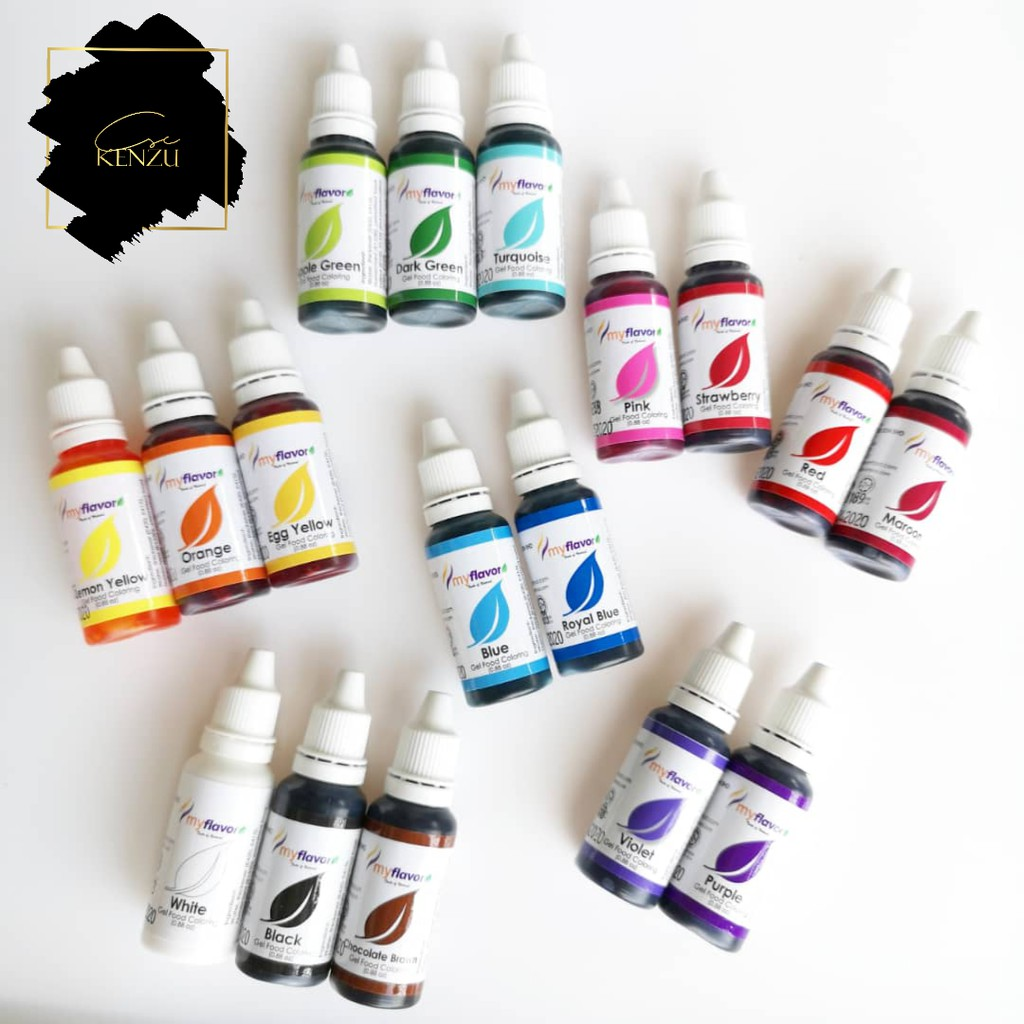ᎷYFᏞᎪᏙᎾᎡ Gel Food Coloring set 17 color