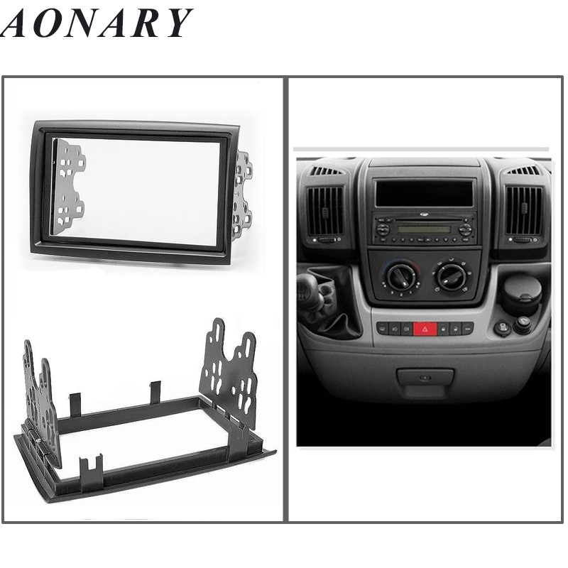lhd Left Hand Drive Stereo Face Plate Frame Radio Panel Dash Fashion Style 2 Din Radio Fascia For Honda Civic 2001 2002 2003 2004 2005 2006