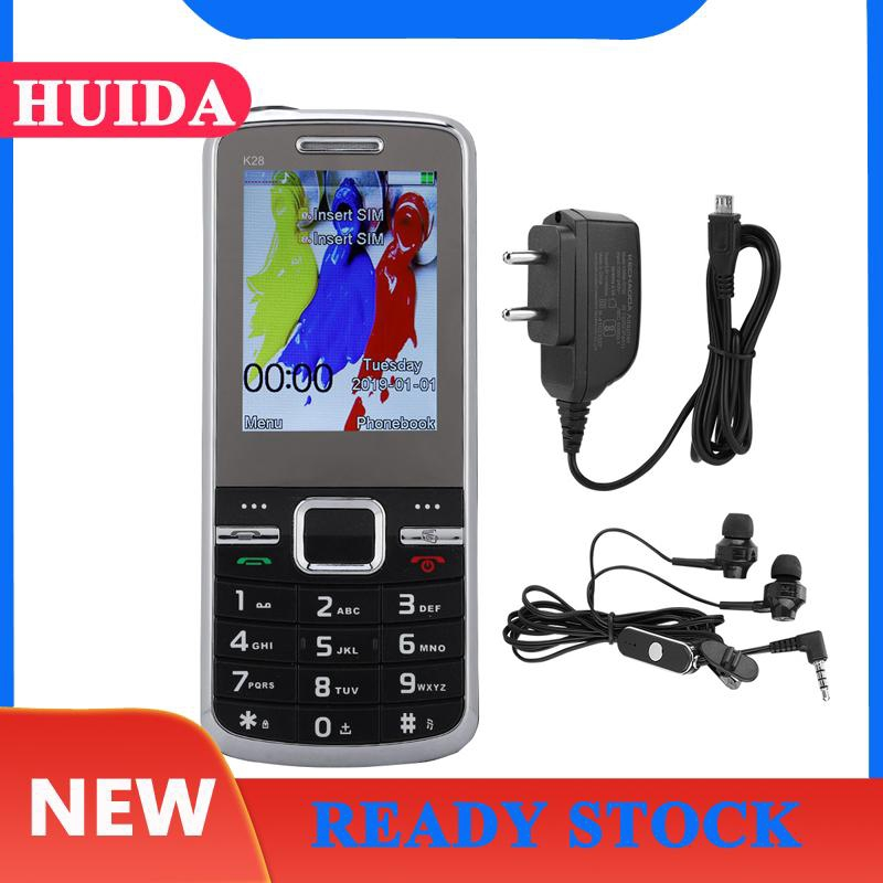 KECHAODA K28 2.4'' 32MB+32MB 1800mAh Quad Band Cellphone FM External Playback Black